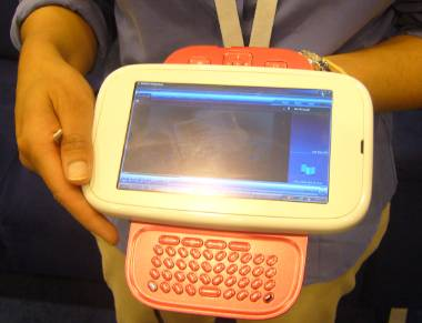UMPC with thumb board