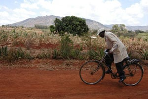 James Muthoka cycling