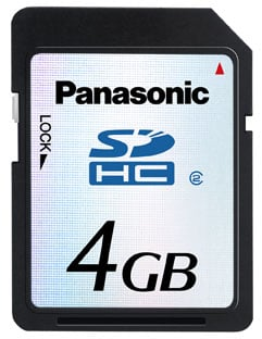 panasonic 3gb sdhc/sd 2.0 card