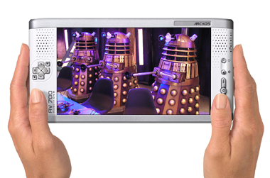 archos 700 tv portable pvr - daleks copyright bbc/terry nation