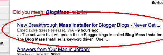 Blog faster with BMI (as seen on Google News)