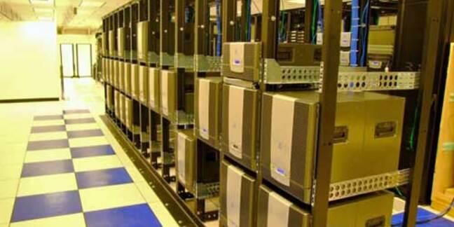 Shows a rack of Azul appliances.