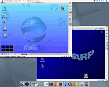 parallels workstation 2.1 for mac os x