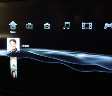 sony ps3 user interface (courtesy t3 magazine)