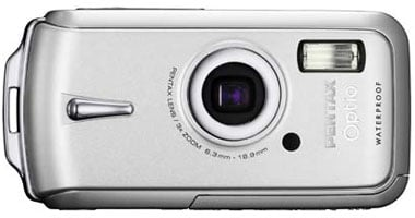 pentax optio w10 waterproof camera