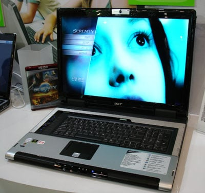 acer aspire 9800 20.1in HD DVD notebook
