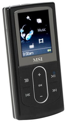 msi p640 hdd digital music player