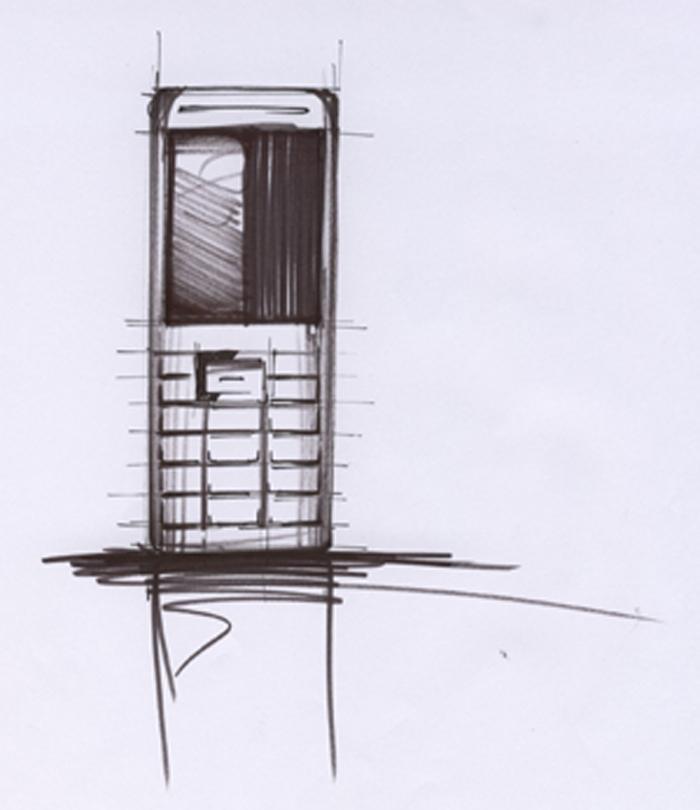 BenQ Siemens S68 design sketch