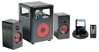 sonic gear i-steroid 2 valve amp and 2.1 speakers
