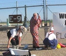 Three clowns attack Minuteman III silo
