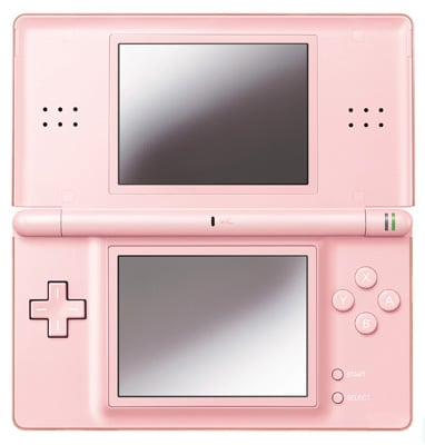 nintendo ds lite noble pink