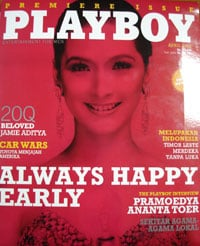 The first issue of Indonesian Playboy