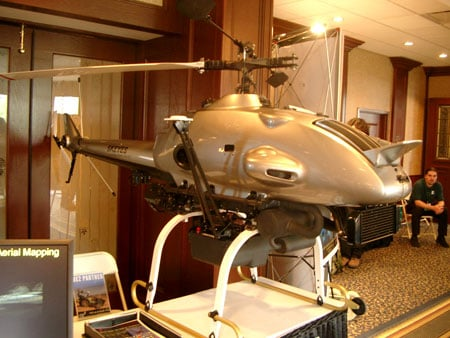 Photo of a surveillance helicopter