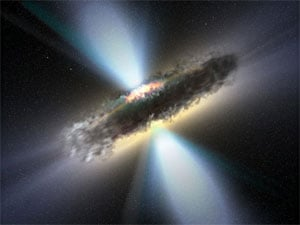 A supermassive blackhole surrounded by a dusty torus