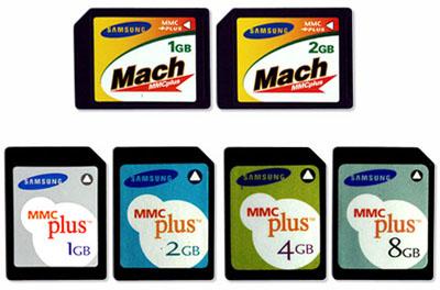 samsung mmcplus, mach mmcplus memory cards