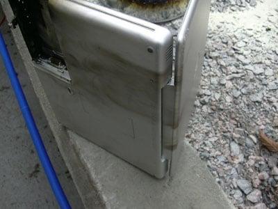 apple powerbook g4 fire damage - image courtesy of itavisen.no