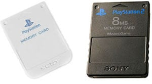 playstation memory cards