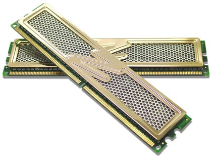 ocz pc8800 gold edition 1.1ghz dimms