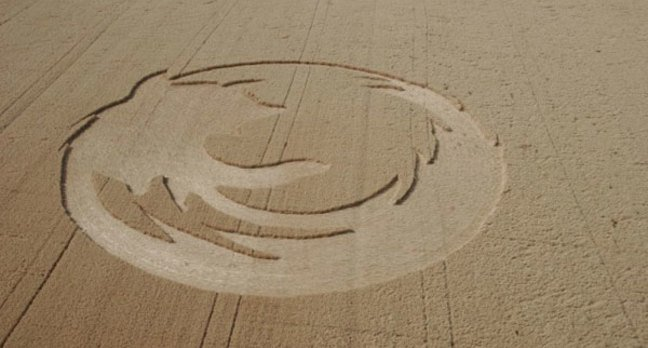Firefox crop circle