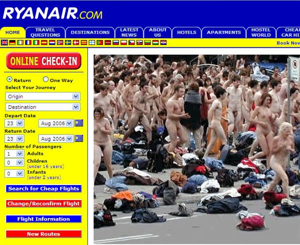 The original Ryanair page