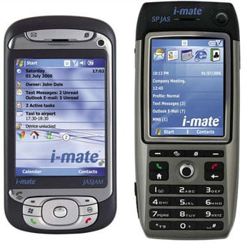 i-mate jasjam and sp jas smart phones
