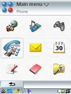 P990i - UIQ 3.0's applications menu