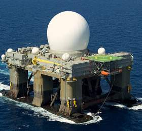 The Sea-Based X-Band Radar. Photo: Boeing