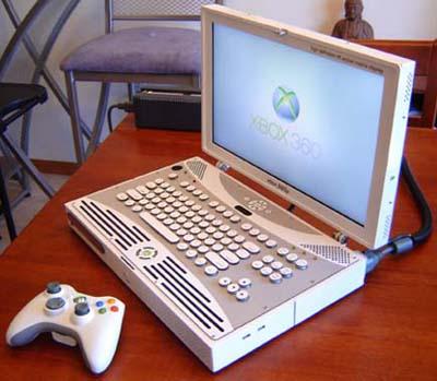 ben heckendorn's xbox 360 laptop - image courtesy ben heckendorm