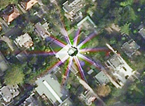Interdimensional portal opens on Google Earth