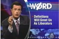 "Stephen Colbert takes on the ""democratization of knowledge"""