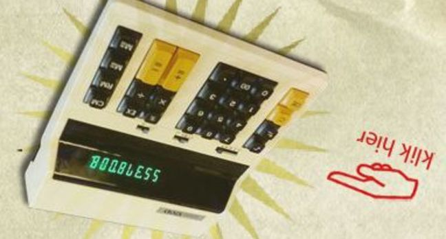 That calculator-based gag revealed