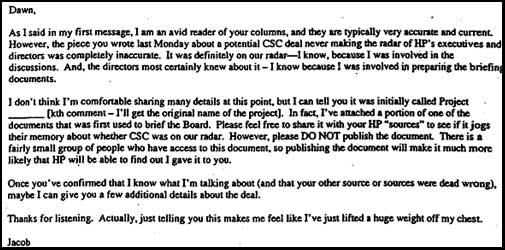 Hunsaker's CSC e-mail