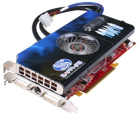 sapphire toxic x1950xtx water-cooled graphics card