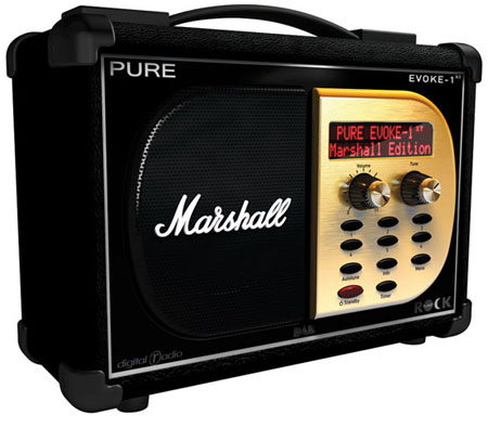 pure evoke-1 marshall edition dab radio