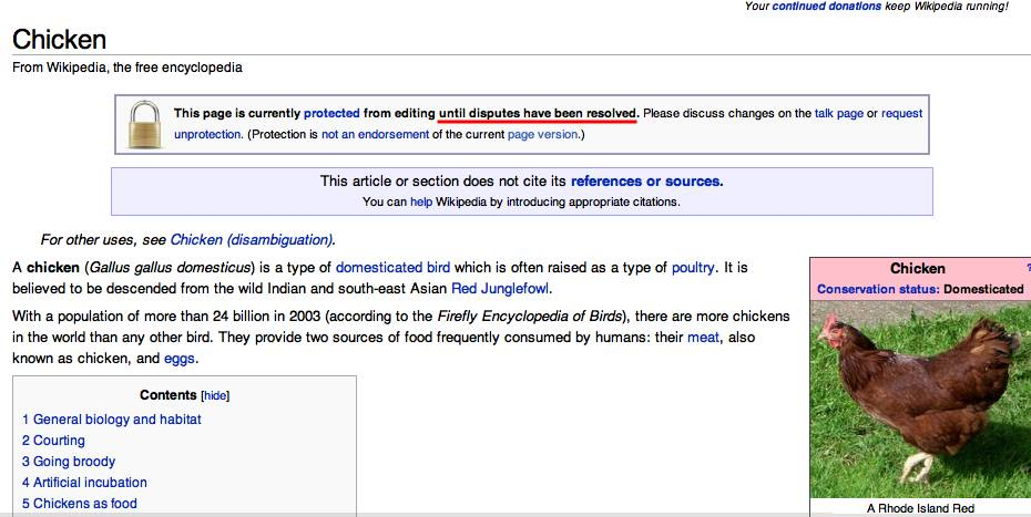 Wikipedia Chicken Attacked The Register