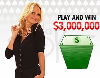 Screen grab of Pamela on her old poker site