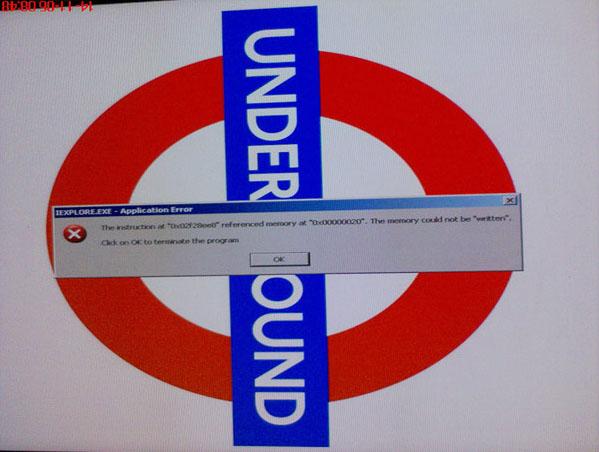 Iexplore provokes London Tube crash