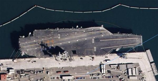 The USS Nimitz in San Diego