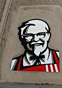 Giant Colonel Sanders in Nevada desert