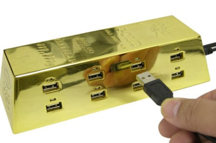 gold ingot usb hub
