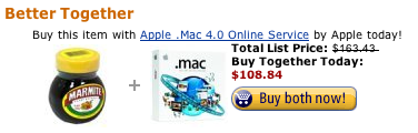 amazon.com mixes marmite with .mac