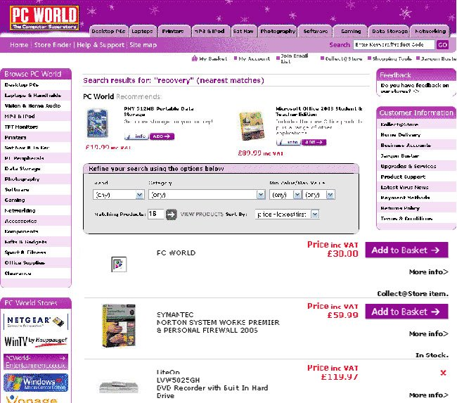 PC World for sale
