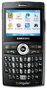 samsung blackjack smart phone