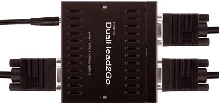 matrox dualhead2go twin-monitor dongle