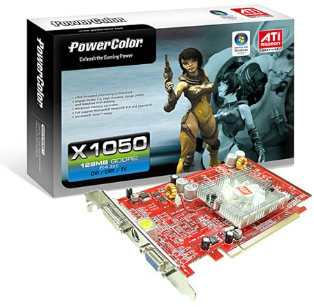 powercolor ati radeon x1050 graphics card