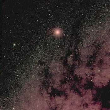 A view of Mars and the Milky Way from Rosetta