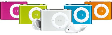 apple ipod shuffle - now in colour