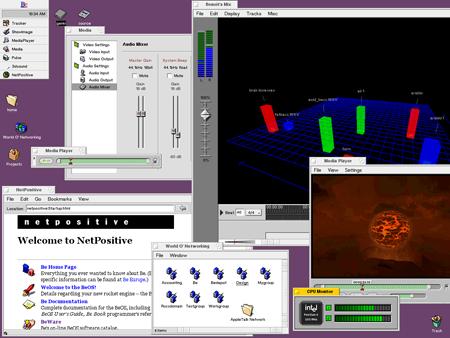 beos operating system screenshot