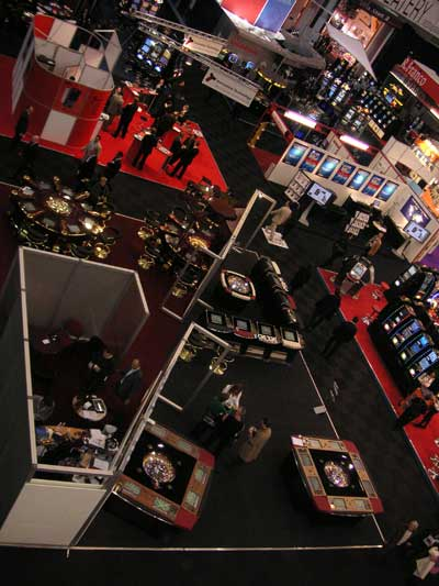 Casion show floor packed with gaming machines