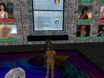 Screenshot showing MS ad in front of naked women